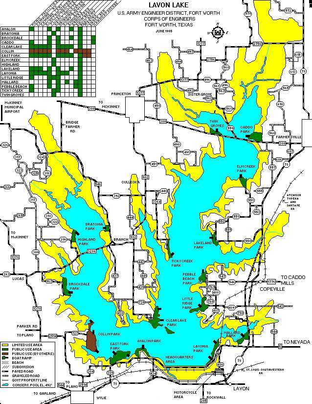 lake lavon hunting map Fun Time Sailing Marina And Lake Info lake lavon hunting map