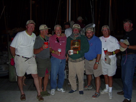 Harvest Moon 2007 crew with trophy